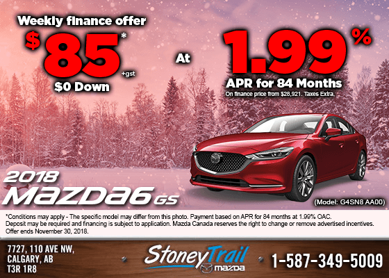 Finance the 2018 Mazda6 GS Today from $85/week!