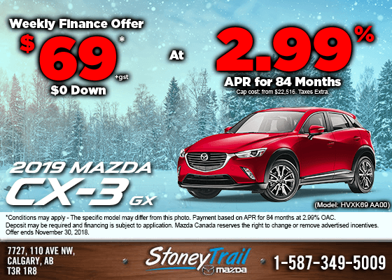 Get the 2019 Mazda CX-3 GX Now from $69/week!