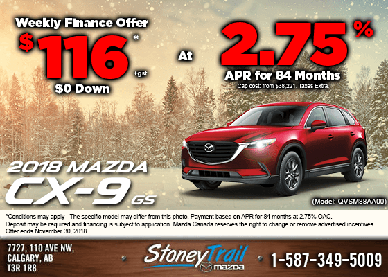 Finance a new 2018 Mazda CX-9 GS from $116/week!