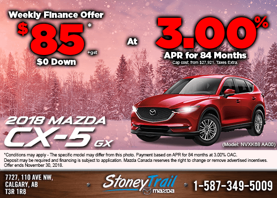 Get the 2018 Mazda CX-5 GX Now from $85/week!