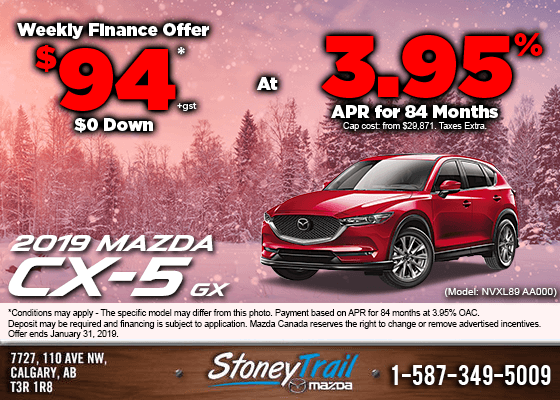 Get the 2019 Mazda CX-5 GX Now from $94/week!