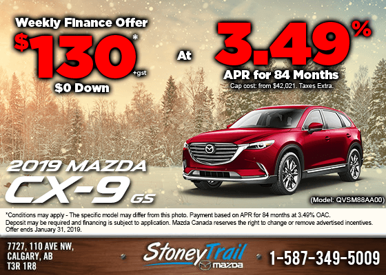 Finance a new 2019 Mazda CX-9 GS from $130/week!